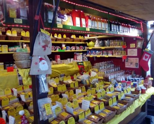 Gewürze Schwabe auf dem Rüdesheimer Weihnachtsmarkt